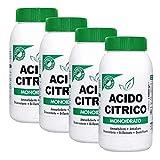 MARTEN Zitronensäure Monohydrat, 1 kg, Promo Pack 3 + 1 Gratis, multifunktionales Produkt gegen Kalk, Entkalker, Entkalker, Entkalker, absorbierend und glänzend
