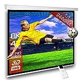 SlenderLine Motorleinwand 244 x 244cm | 1.2 Gain | Format 1:1 | 2D & 3D | FULL-HD 4K 8K Ultra-HD | elektrische Beamer Leinwand für Heimkino & Präsentation | inkl. Fernbedienung | geeignet für alle LCD DLP & LED Videoprojek