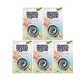 folia 33177 Finger Twist Fadenspiel, in Trendiger Regenbogen-Optik, ca. 160 cm lang, Fingerspiel für Jungen und Mädchen ab 5 Jahre, ideal als kleines Geschenk, Mitgebsel und für den Schulhof (5)