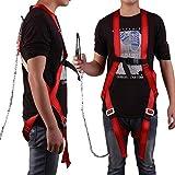 Fallschutz Set, Safety Absturzsicherung, Fallschutz Geschirr, Fallsicherung Schutzausrüstung, Vollkörper Auffanggurt mit 1,5M Seil, 100kg Tragfähigkeit