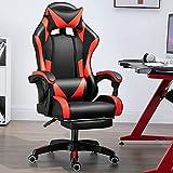 SQQSLZY Gaming Chair Bürostuhl Rennstuhl, mit Lordosenstütze Kopfstütze, hochrücker PU-Leder ergonomischer Schreibtischstuhl, E-Sports-Gamer-Stühle, Rolling Swivel-Verstellbarer Computerstuhl
