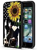 Schutzhülle für iPhone 7, iPhone 8, weiches Silikon, TPU, Mikrofaser, kratzfest, stoßfest, Ganzkörper-Schutzhülle für Apple iPhone 8/iPhone 7 4,7 Zoll, amerikanische Flagge, Sonnenb
