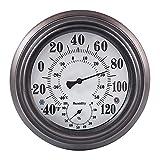 Lllunimon 8Inch Indoor Outdoor Thermometer Hygrometer, Wetterstation Nein Batterie Benötigt Wall Thermometer Für Terrasse Home