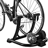 WLGQ Fahrrad Turbo Trainer, Faltbarer Indoor Bike Trainer Stand Home Magnetisch für Mountain Rennrad Typen 700C 24'- 28' Räder Widerstand Fahrrad Fahrrad Roller Geräuschreduzierung