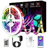 LED Strip, L8star LED Streifen Farbwechsel LED Strip Lichtband RGB Flexible LED Bänder Strips mit Bluetooth Kontroller Sync zur Musik, Anwendung für Schlafzimmer, Party und Feriendekoration