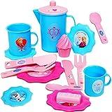 alles-meine.de GmbH 17 TLG. Set - Puppengeschirr / Teeservice -  Disney die Eiskönigin - Frozen  - Geschirr aus Kunststoff / Plastik - Plastikgeschirr - Spiel Küche Zubehör - f..