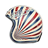 BGMKE Motorrad Open Face 3/4 Helm, DOT Approved Adult Vintage Helm Fliegerhelm Motorrad Damen- und Herrenhelm Vespa Motorradhacker, M-XL (54-63CM)
