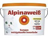 Alpina Wandfarbe Alpinaweiß matt 1 Liter