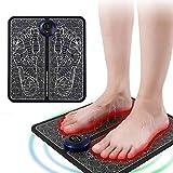 MIUYQ Fußmassageräte, Fussmassagegerät Elektrisch, EMS Intelligente Fussmassagegerät für Entspannung, Tragbare Massagematte Muskel-Stimulatior rutschfest Fußmassagematte(B/C mit Fernbedienung)