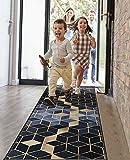 Amazpro Läufer Flur Teppich 40x100cm, Teppichläufer Meterware, rutschfest & leicht abwaschbar läufer küche für Wohnzimmer Flur Kü