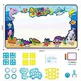 SOKA® 150 x 90 cm große Größe Magic Water Aqua Doodle Zeichenmatte, Zeichnen Handschrift Spielzeug für Kinder Mädchen Jungen