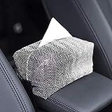 Papierbox für den Rücksitz, für Auto, Taschentuchhalter, nordischer Stil, dicker Papierkarton, gehärteter Papierhandtuch-Box, Taschentuch-Halter (inklusive Innenbox) (A)