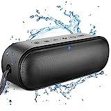 LENRUE Portable Bluetooth Lautsprecher, 14W IPX7 Wasserdicht Lautsprecher mit Duale Bass Treiber, Mikrofon, 24H Spielzeit, 33ft Reichweite, Kabelloser Lautsprecher für iPhone, iPad, Laptop, PC, TV