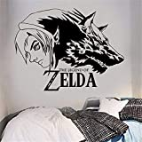 Wandtattoo Wohnzimmer Wandtattoo Schlafzimmer Zelda Legend Boy Wolf Applique Aufkleber Skull Kid Video Game Room Cartoon niedlichen Aufkleber