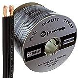 2X OFC Einzeln Lap Screened/Shielded Audio Lautsprecher Kabel Schwarz 100 m Kabelrolle [100 Meter]