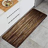 LISNIANY Küchenfußmatten Küche Bodenmatte Komfort,Old Wood Plank Grunge Holzbrett Vintage verwitterte Hartholz Zaun Paneele,rutschfeste Küche Teppiche Indoor Outdoor