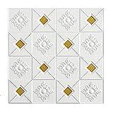 LQKYWNA 3D Imitation Brick Wandaufkleber, DIY wasserdichte Selbstklebende Dekoration 70 * 70cm Deckenaufkleber Dachdekoration Schaum Tapete Tv Hinterg
