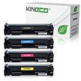 Kineco 4 Toner kompatibel mit HP Laserjet Pro MFP M277n M277dw Laser Multifunktionsdrucker kompatibel mit CF-400X CF-401X CF-402X CF-403X, Schwarz 2.800 Seiten, Color je 2.300 Seiten