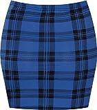 Espania Trading Damen Minirock, Stretch, figurbetont, elastisch, Jersey, kurz, Gr. 34-40 Gr. 36, Blue T