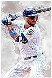 HuGuan Leinwand Bilder Kunst Baseballspieler Kris Bryant Sports Bild für ation für Porch Decor Malerei Poster Druckt Gedruckte 15.7'x23.6'(40x60cm) Kein Rahmen