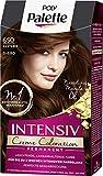 SCHWARZKOPF POLY PALETTE Intensiv Creme Coloration, Haarfarbe 650/5-680 Kastanie, 3er Pack (3 x 128 ml)