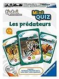 Ravensburger tiptoi® Mini Quiz Interaktives Spiel – Raubtiere – Elektronische Lernspiele ohne Bildschirm – Kinder ab 6 Jahren – 00086