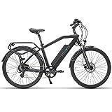 Fitifito CT28M, 28 Zoll Elektrofahrrad Citybike E-Bike Pedelec, 48V 250W SY Heckmotor, 7 Gang Shimano Schaltung,Schwarz G