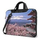 Laptop Umhängetasche Satchel Mount Fuji Japan Stoßfest Bussiness Messenger Laptop Tasche Handtasche Schultertasche 15,6 Zoll
