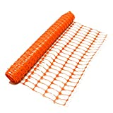 True Products b1003C Standard-Schutznetz aus Kunststoff, Rolle, Orange, 4kg 1m x 50m