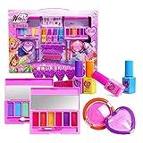 12Stk Make-up-Set, Schminkset für Mädchen, waschbar Kosmetik Schminkspielzeug für Kinder Geschenk, Kinderschminke für Mädchen, Make up Set mit Niedlich Kosmetika Tasche Spielzeug, Waschbar Spielen
