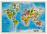 Holzpuzzle   Puzzle aus Holz   Einlegepuzzle Holz 96-teilig (Welt)