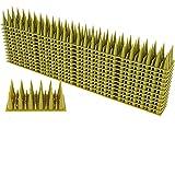 Taubenabwehr Spikes,Vogelabwehr Spikes Aus Kunststoff,Anti-Katzen-Nägel (40X4.5X3.5 cm) 3-reihig,Vogel Spikes für Zäune Balkon Dach Fenster (12 Stück)