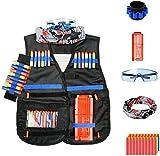 Interepro Kids Tactical Vest Kit Für Die Nerf Gun N-Strike-Serie,Taktische Weste Kit Kind, Zubehör Von Gun NERF