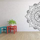 Halbes Mandala Wandtattoo Kopfteil Tür Fenster Aufkleber Hauptschlafzimmer Yoga Studio Wohnkultur Boho Style Ornament Art andere Farbe 57x115cm