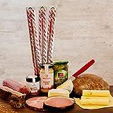 WURSTBARON® Fauler Sack-Paket - Bayerisches Vorratspaket - Wurstpaket mit Wurst, Käse, Butter & Brot, Gewürz, Senf uvm