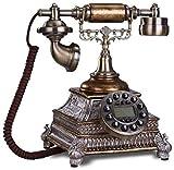 CMMWA Home Festnetztelefon Festnetztelefon - Home Telefon, Büro Feste Festnetz Metallhalterung Button Dial Retro Dekoration verdrahtet