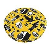 Barhocker-Überzüge, rund, Rock-and-Roll-Musikhocker, Stuhlkissen, waschbar, gepolsterte Barhocker-Bezüge 30,5 cm