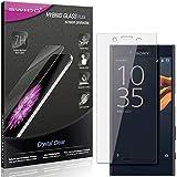 SWIDO Panzerglas Schutzfolie kompatibel mit Sony Xperia X Compact Displayschutz-Folie und Glas = biegsames HYBRIDGLAS, splitterfrei, Anti-Fingerprint KLAR - HD-Clear