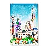 artboxONE Acrylglasbild 60x40 cm Städte Berlin Collage in bunt - Bild Panorama Architektur brandenburger Tor