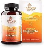 Premium Curcuma mit 95% Curcumin und Piperin - 90 vegane Kapseln