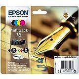 Epson Original 16 Tinte Füller (WF-2630WF WF-2650DWF WF-2660DWF WF-2750DWF WF-2760DWF, Amazon Dash Replenishment-fähig) Multipack 4-farbig