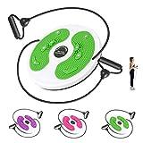 Fxhyy Aerobic Fitness Disc Mit Kordelzug Partikel Einmassieren Fitness Twist Board Körperform Twister Plate Büro Zuhause Sportausrüstung Bauchmuskeln Taille Hüften Bein Fußknöchel(Color:Grün)
