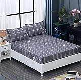 Bedruckte reine Baumwolle Spannbettlaken Solide Bettwäsche Single Double Queen Size Matratze Bettdecke, Jungen und Mädchen Kinderschlafsaal Schlafzimmer Dekoration-22_180x200cm + 25cm (1 Stück)
