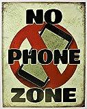 AMELIA SHARPE Blechschild 'No Phone Zone', 30,5 x 20,3 cm
