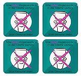 BIKE-label Schild 3D Aufkleber 80 x 80 mm 4 Stück Keine Hygieneartikel ins Klo 900219