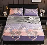 XLMHZP Allergie-Matratzenschoner für Queen, einfarbig, gesteppt, geprägt, wasserdicht, Spannbetttuch-Stil, Bezug für Matratze, dick, weiches Polster für Bett, 220 x 240 cm + 30 cm