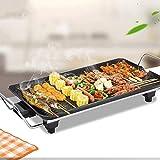 Rauchfreier Elektrogrill, Innen- und Außenbereich, abnehmbarer Grill und Trockentopfplatte, tragbarer Grill