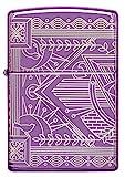 ZIPPO – Zippo Hyperplastisches Design – High Polish Teal – Benzin Sturm-Feuerzeug, nachfüllbar, in hochwertiger Geschenkbox, violett, normal, 60005340