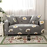 Sofabezug Stretch Sofahusse 1/2/3/4 Sitzer Couchbezug Sesselbezug Elastischer Antirutsch Stretchhusse für Sofa,Weich Farbecht - Grau 3 (3 Sitzer: 190-230 cm)