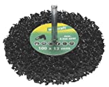 Wolfcraft 1674000 Universal-Reinigungsscheibe, Schaft 6 mm Ø 100 x 13